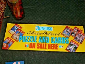 1990 Donruss Baseball Collector Preferred Promo Advertising Poster-Nice Shape