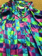 LA CHINE PLUS GALDINA WANG OPAL CLARK WOMEN'S 34/14 MULTICOLORED L/S  abstract