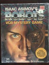 Vintage Isaac Asimov Robots VCR VHS Mystery Suspense Detective Game Kodak 1980's