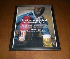 Natural Light Beer & Joe Frazier Framed Ad Print