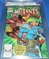 The New Mutants #93 CGC Graded 9.6 First brawl of Cable vs Wolverine