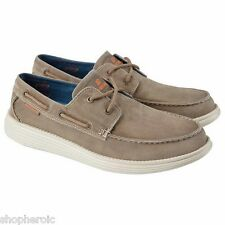 NEW Skechers Canvas Boat Shoe Mens Shoes 13 MED Brown 64644 Vintage Wash Relaxed
