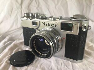 nikon s2 rangefinder with 5.0cm f2 Lens 1956