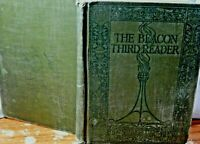 Vintage School Book The Beacon Third Reader by James H. Fassett Illustrated 1914