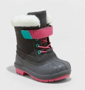 Toddler Girls' Journey Winter Boots Gray - Cat & Jack - CHOOSE SIZE