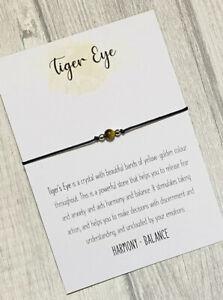 Tiger Eye Bracelet Bead Reiki Chakra Crystal Gemstone Anxiety Stress Healing
