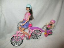 Barbie dolls Family Cycling Bike Bundle with Sisters Skipper and Chelsea