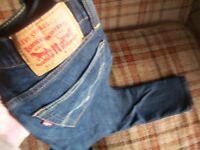 Levis Mens 31x32 (Actual 29x30) 511 Dark Wash Jeans 98/2 Elastane Stretch