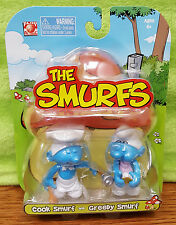 2008 Jakks Pacific The Smurfs Cook Smurf and Greedy Smurf Figure 2 Pack -MOC NEW