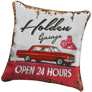 Holden Heritage Filled Cushion Canvas fabric | Holden Garage | EH Holden