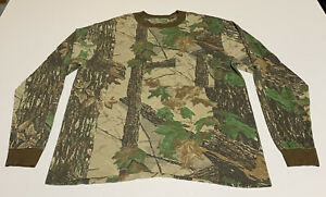 Vtg 80s Realtree Camo Single Stitch Pocket Long Sleeve T-Shirt Men's Size L/M