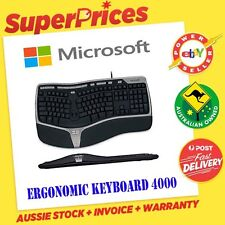 Microsoft◉Natural Ergonomic Keyboard 4000 Curved◉USB Port◉Windows PC Desktop◉Mac
