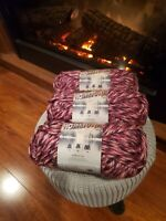 Lion Brand Yarn Hometown USA,  Elmore City Dance 3 Skeins Brand New