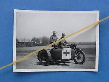 Foto Motorrad Gespann Krad Sanitäter Wehrmacht