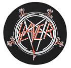 Large Slayer Pentagram Round Woven Sew On Battle Jacket Back Patch
