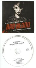 Taylor Swift FT Kendrick Lamar 'Bad Blood'  DUTCH rare 1 Track Rare Cd Promo