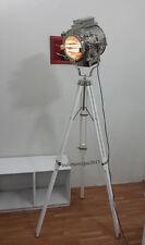 Vintage Search light Spot Lights Floor Lamp White Antique wooden tripod Lamp
