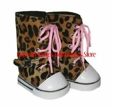 Leopard High Top Buckle Sneakers 18 in Doll Clothes Fits  American Girl