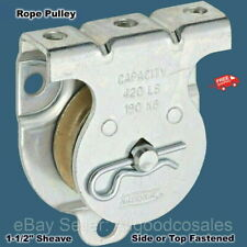 Rope Pulley Wall Or Ceiling Mount 1 12 Sheave Side Or Top Fastened
