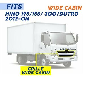2012-2020 HINO 195/155/300, BLACK GRILLE, WIDE CABIN, 61 INCHES LONG