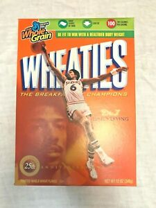 "2006 WHEATIES ""Dr. J"" Julius Erving 25th Anniversary NBA MVP empty sealed box"