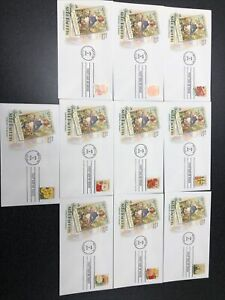 US 4754-63 Vintage Seed Packets First Day Of Issue Complete Set Of 10 Covers