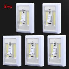 5packs COB LED Wall Switch Wireless Closet Cordless Night Light Battery Operated