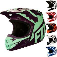 Fox Racing V1 Race MX Mens DOT Dirt Bike Motocross Helmets