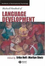 Blackwell Handbook of Language Development (Blackwell Handbooks of-ExLibrary