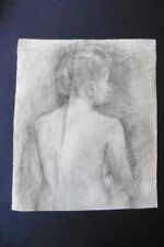 FRENCH SCHOOL 19thC - SUBTILE STUDY FEMALE NUDE - FINE CHARCOAL DRAWING