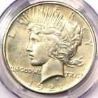 1921 Peace Silver Dollar $1 - PCGS Uncirculated Dets - Rare Date MS BU UNC Coin