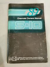 1989 Chevrolet S-10 Owner's Manual by Chevrolet Motor Division A5