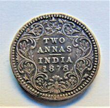 1878(c)/B/II INDIA BRITISH VICTORIA, Silver Two Annas, grading VERY FINE