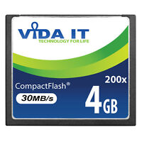4GB 30MB/s Compact Flash CF Memory Card Record 4K UHD Video For Digital Camera