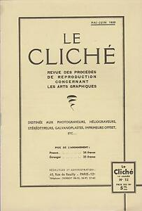le cliché / revue des procédés de reproductions arts graphiques (n°52) 1939