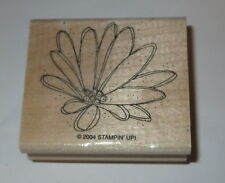 Water Lily Flower Rubber Stamp Nymphaeaceae Stampin' Up! Retired Wood Mounted