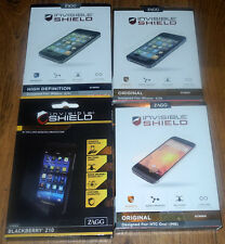 New ZAGG Invisible Shield Original High Definition for Apple and Blackberry