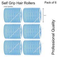 Soft GRIP AUTO aggrapparsi Hair Curling Roller Jumbo Azzurro 56mm PROFESSIONAL CONF. da 6