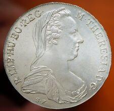 1780 SF / .X  Maria Theresa Austria 1 Thaler Restrike  KM# T1 Silver Coin MS UNC