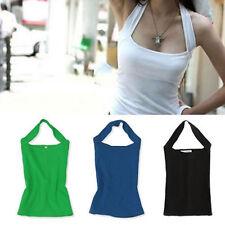 Sexy Fashion Women Halter Neck Casual Vest Sleeveless Tank Tops Backless T Shirt