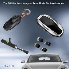 2020 Tesla Model S Aluminum Key Fob Cover Gift Pack