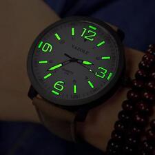 Mode Lederband Luxuxmänner Militärquarz -Analog-Armee Luminous Armbanduhr New