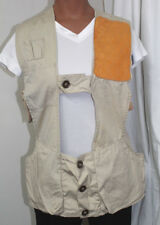 Vintage Men's 10-X Lightweight Tan shooting vest  Sz  32  Skeet Trap Left Handed