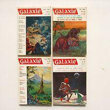 Lot de 4 livres GALAXIE n°21-22-23-24 - 1966 - Science Fiction - Fantastique
