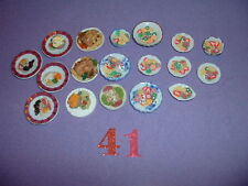 "1/12"" DOLL HOUSE FURNITURE PLATES OF HANDMADE FOODS"