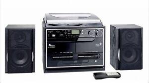 Kompaktanlage mit Plattenspieler Radio Kassette CD USB SD MMC MP3s - Encoding