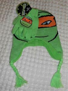 Nickelodeon Teenage Mutant Ninja Turtles Hat Beanie Glove Set Michelangelo S212