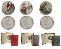 Mythical Dragons - Red Dragon + The Four Dragons + The Norse  - 2oz Silver Coins