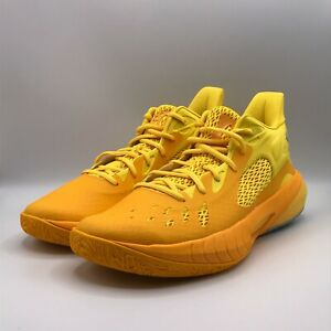 Under Armour Mens 12 HOVR Havoc 3 Steeltown Gold Sneakers Shoes New 3023088-700