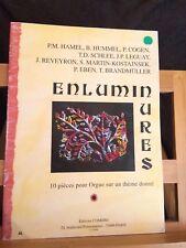 Enluminures recueil pièces pour orgue sur un thème donné partition Combre